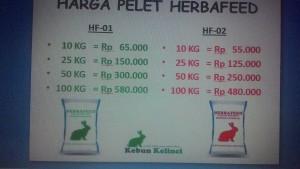 Harga Pakan Khusus Kelinci Herbafeed