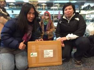 Paketan Abon kelinci Ichibon tiba di Hongkong