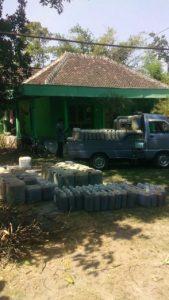 persiapan pengiriman urine air kencing kelinci murni